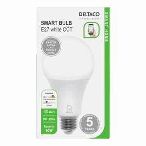 Deltaco Smart Home E27 Smart Bulb White+CCT 7W