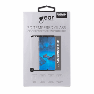 GEAR Herdet Glass 3D Samsung S9 Plus Full Fit Svart