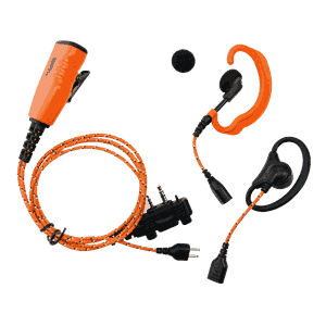 PRO-U610LA Orange Cable, Earhanger/Peltor and palm PTT